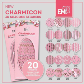 Charmicon 3D silicone stickers 20 NEW