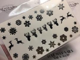 Sneeuwvlokjes en rendier