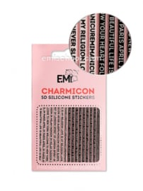Charmicon 3D Silicone Stickers #94 words
