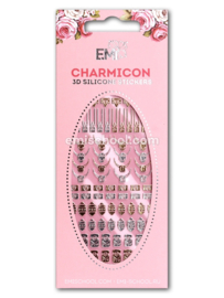 Charmicon 3D Silicone Stickers Locks