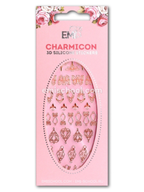 Charmicon 3D Silicone Stickers Jewelry Gold #1 en Silver #1