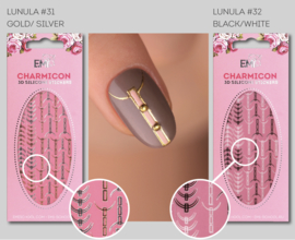 Charmicon Stickers Lunula #31 Gold/Silver en #32 Black/White