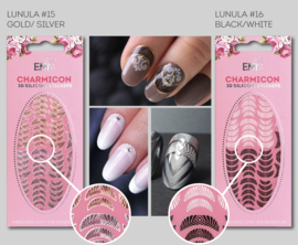 Charmicon Lunula #15 Gold/Silver en #16 Black/White