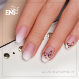 Nailcrust 5D #10  Butterflies/ Vlinders