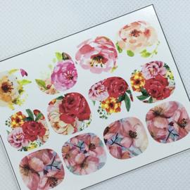 Pedicure bloemen