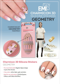 Charmicon  Stickers #37 Geometry Gold/Silver and #38 Geometry Black/White