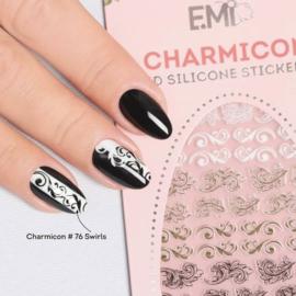 Charmicon 3D Silicone Stickers #76 Swirl