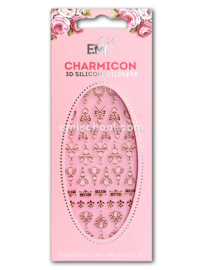 Charmicon 3D Silicone Stickers Jewelry Gold #4 en Silver #4
