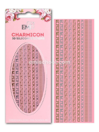 Charmicon 3D Silicone Stickers Jewelry Gold/Silver #3