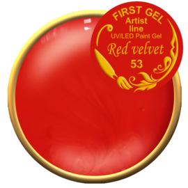 Red velvet 53, 5g. Zonder plaklaag