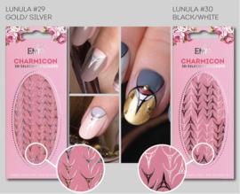 Charmicon Stickers Lunula #29 Gold/Silver en #30 Black/White