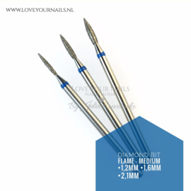 Diamond Flame bit - medium - cuticle and sidewalls