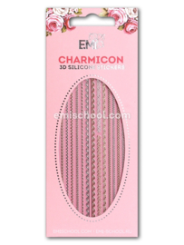 Charmicon 3D Silicone Stickers Lace MIX #4 en White #3