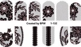 zwart net met bloem 1-132