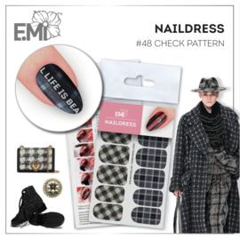 Naildress Slider Design #48 Check Pattern
