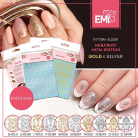 NAILCRUST METALLIC Goud en Zilver #16 #17 #18 #19 #20