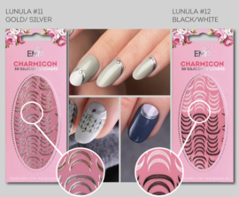 Charmicon Lunula #11 Gold/Silver en #12 Black/White
