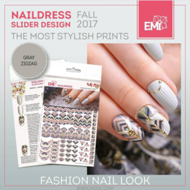 Naildress Gray zigzag