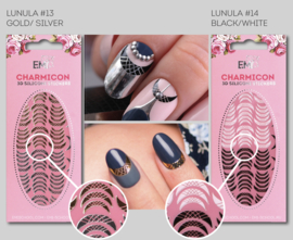 Charmicon Lunula #13 Gold/Silver en #14 Black/White
