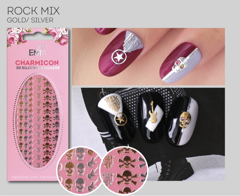 Charmicon  Stickers Rock MIX Gold/Silver