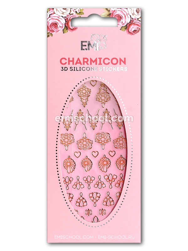 Charmicon 3D Silicone Stickers Jewelry Gold #2 en  Silver #2