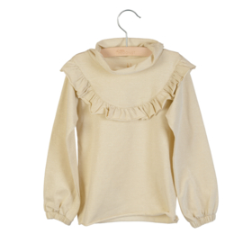 LITTLE HEDONIST_ruffled longg sleeve lucy bleached sand
