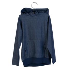 LITTLE HEDONIST_hooded sweater joe dark denim
