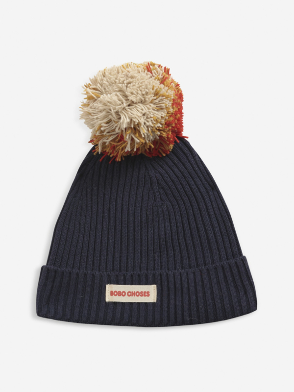 BOBO CHOSES_multcolor pompom knitted beanie