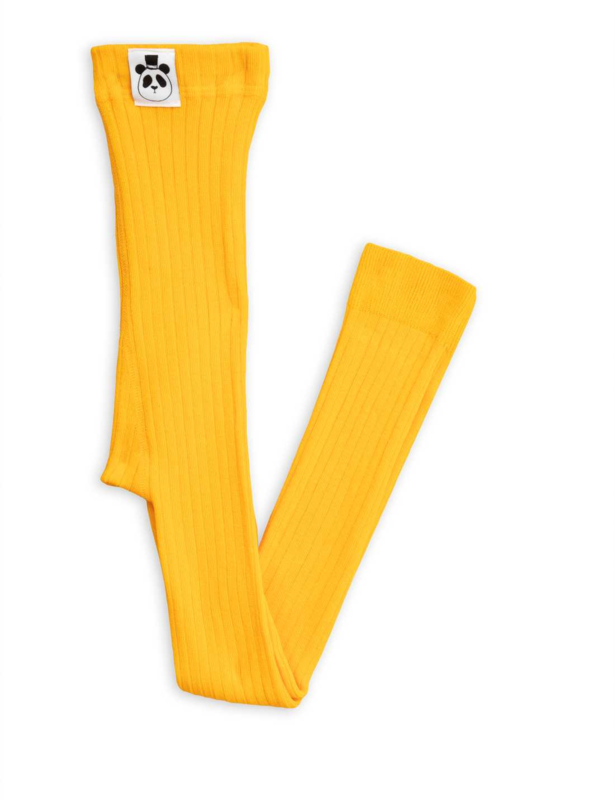 MINI RODINI_ribbed legging yellow