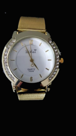 Dames Horloge goudkleur met strass