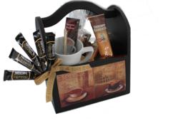 Koffie cadeaupakket in koffie kistje Vintage