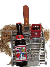 Barbecue cadeaupakket met felicitatie etiket
