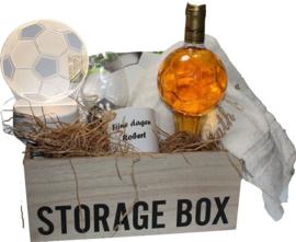 Voetbal geschenk in storage box met LED Voetbal lampje