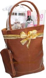 Dames cadeau in Shopper opgemaakt met wijn