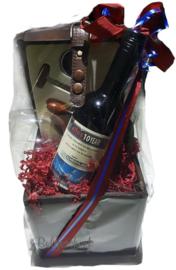 Jubileum wijn cadeaupakket 10 jarig bestaan