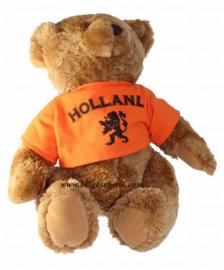 Beer met oranje hesje Holland