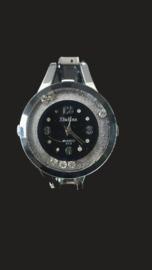 Dames Horloge zilverkleur met strass