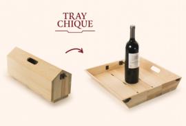Wijn tray Rackpack met wijnfles met Wensetiket