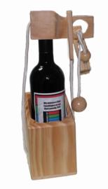 Wijnpuzzel  met Wijnfles met Felicitatie of Logo etiket