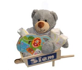 Baby houten cadeau Siem
