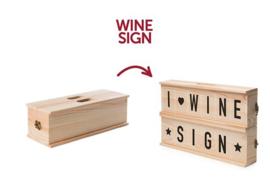 Rack Pack Wine Sign inclusief rode of witte wijn