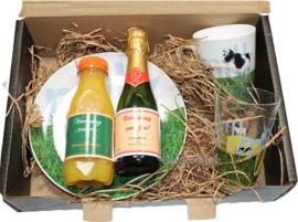 Ontbijt set cadeau in verrassings koffertje