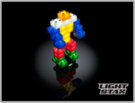 Bouwstenen Light Stax met LED verlichting kinderen 2+