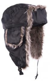 Siberische Muts zwart met bont