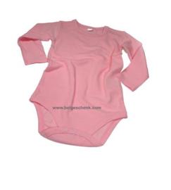 Baby luierpakje roze met lange mouw