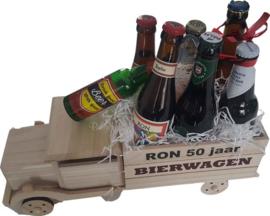 Abraham Bierwagen gevuld met divers bier en bierartikel