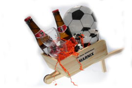 Voetbal bier cadeau met naam
