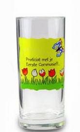 Communie glas met Vlinder