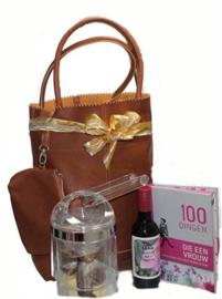 Shopper cadeautas opgemaakt als Damescadeau