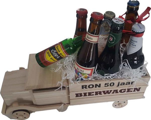 Bierwagen met Naam, divers bier en opener